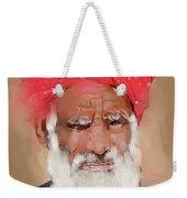 Man With Red Headwrap Weekender Tote Bag