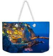 Manarola By Night Weekender Tote Bag