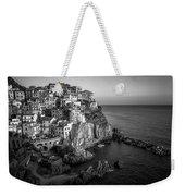 Manarola Dusk Cinque Terre Italy Bw Weekender Tote Bag