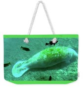 Manatee And Friends Viewed From Glass Bottom Boat At Silver Springs Weekender Tote Bag