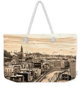 Manayunk In March - Canal View In Sepia Weekender Tote Bag