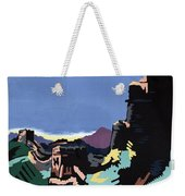 Manchuria And The Great Wall Vintage Poster Restored Weekender Tote Bag