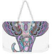 Mandala Elephant Indigo Weekender Tote Bag