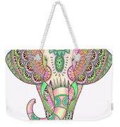 Mandala Elephant Psicodelic Weekender Tote Bag