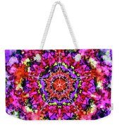 Mandala Floral Red Purple Weekender Tote Bag