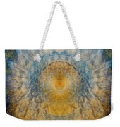 Mandala From The Garden 2 - Flower Feather Shield Weekender Tote Bag