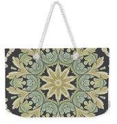 Mandala Leaves In Pale Blue, Green And Ochra Weekender Tote Bag