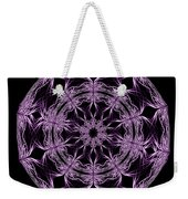 Mandala Purple And Black Weekender Tote Bag