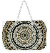 Black And Gold Mandala Weekender Tote Bag