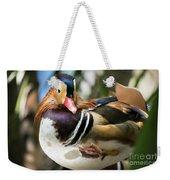 Mandarin Duck Raising One Foot. Weekender Tote Bag