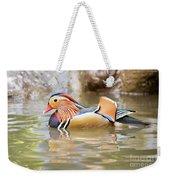 Mandarin Duck Swimming Weekender Tote Bag