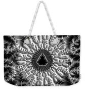 Mandelbrot Fractal Black And White Weekender Tote Bag