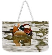 Mandrin Duck Going For A Swim Weekender Tote Bag