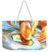 Mango And Cream Abstract Weekender Tote Bag