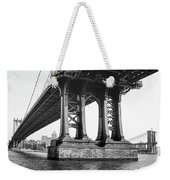 Manhattan Bridge, Afternoon Weekender Tote Bag by Gary Heller
