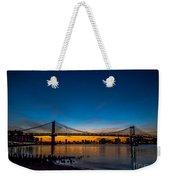 Manhattan Bridge At Dawn Weekender Tote Bag