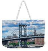 Manhattan Bridge Weekender Tote Bag
