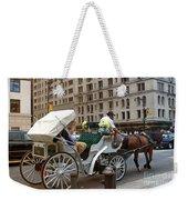 Manhattan Buggy Ride Weekender Tote Bag