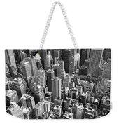 Manhattan In Monochrome. Weekender Tote Bag