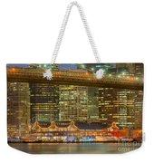 Manhattan Night Skyline I Weekender Tote Bag
