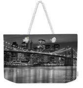 Manhattan Night Skyline Iv Weekender Tote Bag