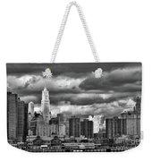 Manhattan Nyc Storm Clouds Cityview Weekender Tote Bag