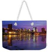 Manhattan Reflection Weekender Tote Bag