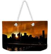 Manhattan Silhouette Weekender Tote Bag