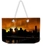 Manhattan Silhouette Weekender Tote Bag by Svetlana Sewell