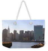 Manhattan Skyline - The View From Gantry Plaza State Park Weekender Tote Bag