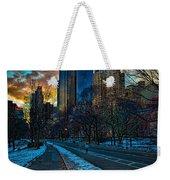 Manhattan Sunset Weekender Tote Bag