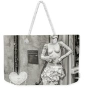 Mannequin On The Street Bw Weekender Tote Bag
