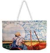 Manny During Wheat Harvest Weekender Tote Bag