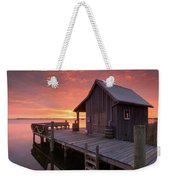 Manteo Waterfront Fisherman's Net House North Carolina Obx Weekender Tote Bag