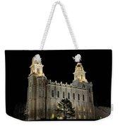 Manti Temple Night Weekender Tote Bag