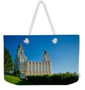 Manti Temple North Hill Weekender Tote Bag
