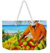 Manuel The Fruit Vendor At The Beach Weekender Tote Bag