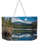 Manzanita Lake Reflects On Mount Lassen Weekender Tote Bag