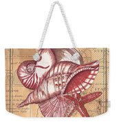 Map And Shells Weekender Tote Bag