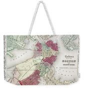 Map: Boston, 1865 Weekender Tote Bag