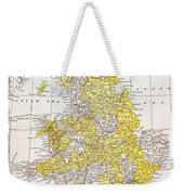 Map: England & Wales Weekender Tote Bag