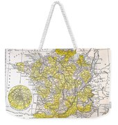 Map: France Weekender Tote Bag