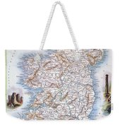 Map: Ireland, 1851 Weekender Tote Bag