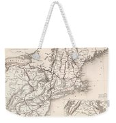Map: Northeast U.s.a Weekender Tote Bag