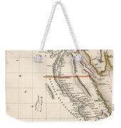Map Of Aegyptus Antiqua Weekender Tote Bag by Sydney Hall