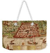 Map Of Algiers 1541 Weekender Tote Bag