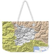 Map Of Andorra Weekender Tote Bag