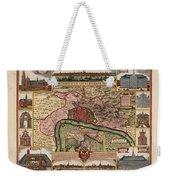 Map Of Antwerp 1675 Weekender Tote Bag