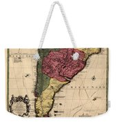 Map Of Argentina 1700 Weekender Tote Bag