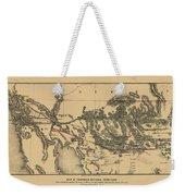 Map Of Arizona 1857 Weekender Tote Bag